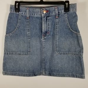 Quick silver denim skirt size 5 with pockets